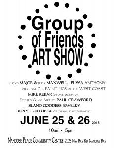 GROUP OF FRIENDS ART SHOW SALE and EXHIBITION